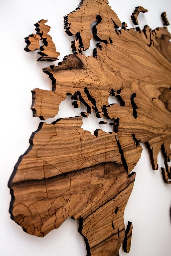 Medinis žemėlapis, kelionių žemėlapis prabangus interjero dekoras, Map it Studio